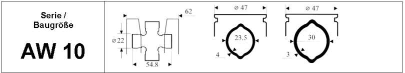 AGDRIVE Weasler Gelenkwelle - Serie / Baugröße AW 10